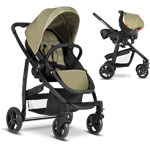 Pack poussette duo evo + junior baby sand ts pas cher