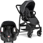 Poussette duo evo + junior baby charcoal ts pas cher
