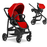 Poussette duo evo + junior baby chili ts pas cher
