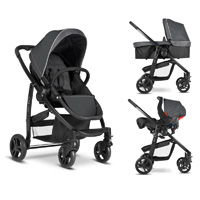 Pack poussette trio evo charcoal
