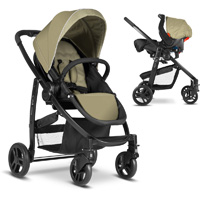 Pack poussette duo evo + junior baby sand ts