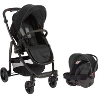 Pack poussette duo evo black grey