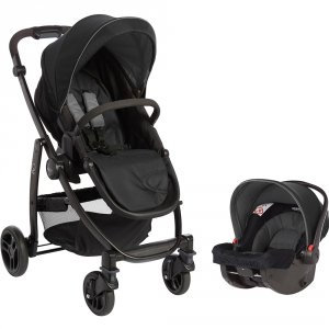 Poussette combiné duo evo black grey