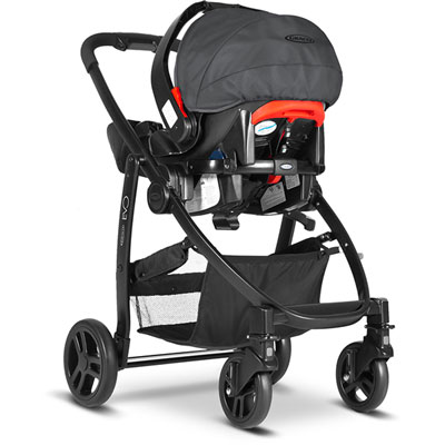 Pack poussette duo evo + junior baby charcoal ts Graco