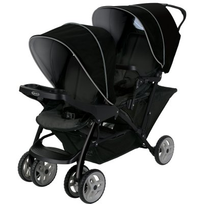 Poussette double stadium duo black grey Graco