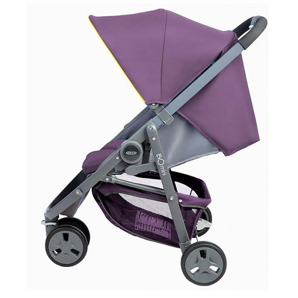 poussette 3 roues evo mini violet 30 sur allob b. Black Bedroom Furniture Sets. Home Design Ideas