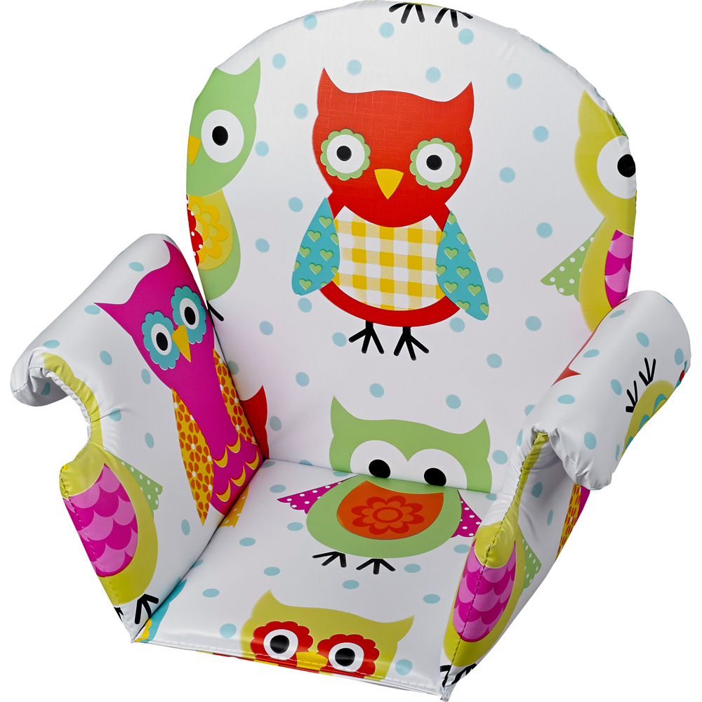 Coussin de chaise pvc avec rabat hibou de geuther sur allob b - Coussin de chaise haute avec sangles ...