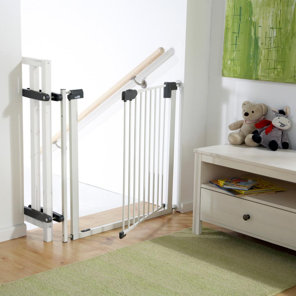 kit escalier pour barri re easylock light m tal blanc. Black Bedroom Furniture Sets. Home Design Ideas
