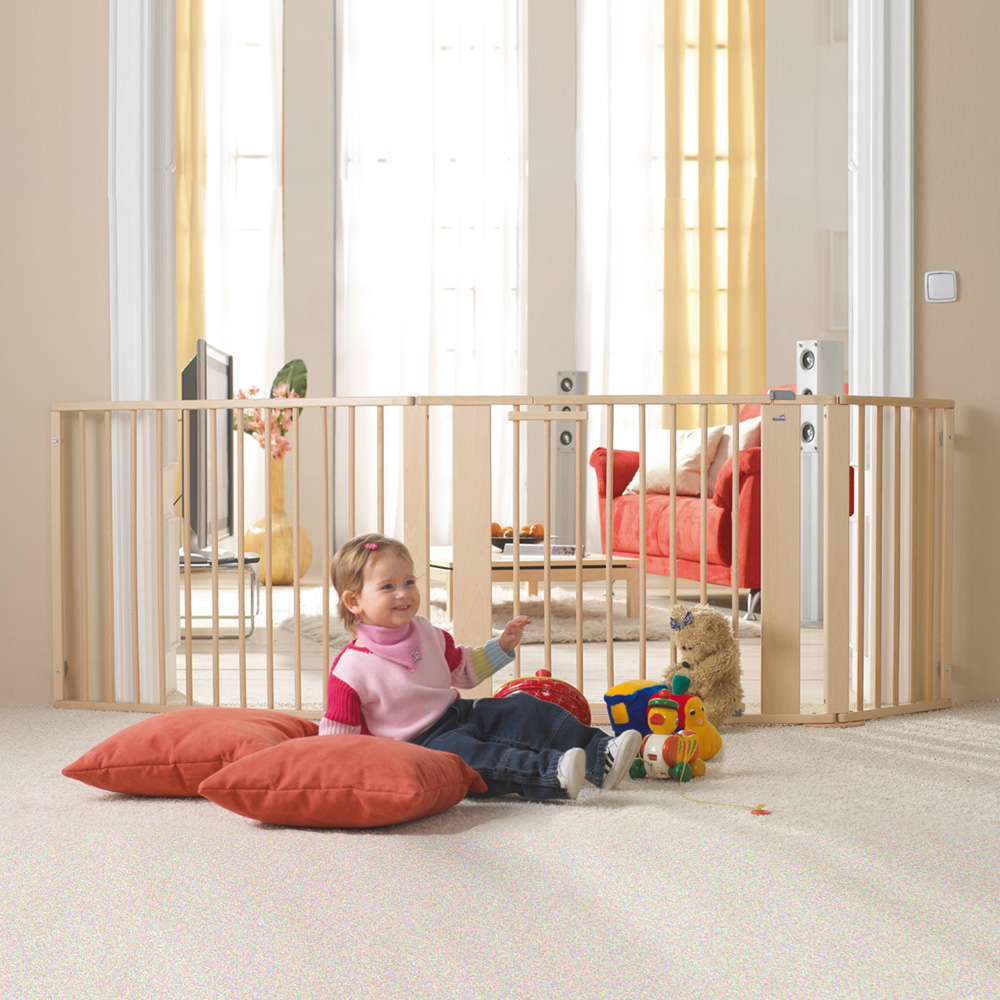 barri re de s curit pare feu 100 180cm naturel de geuther. Black Bedroom Furniture Sets. Home Design Ideas