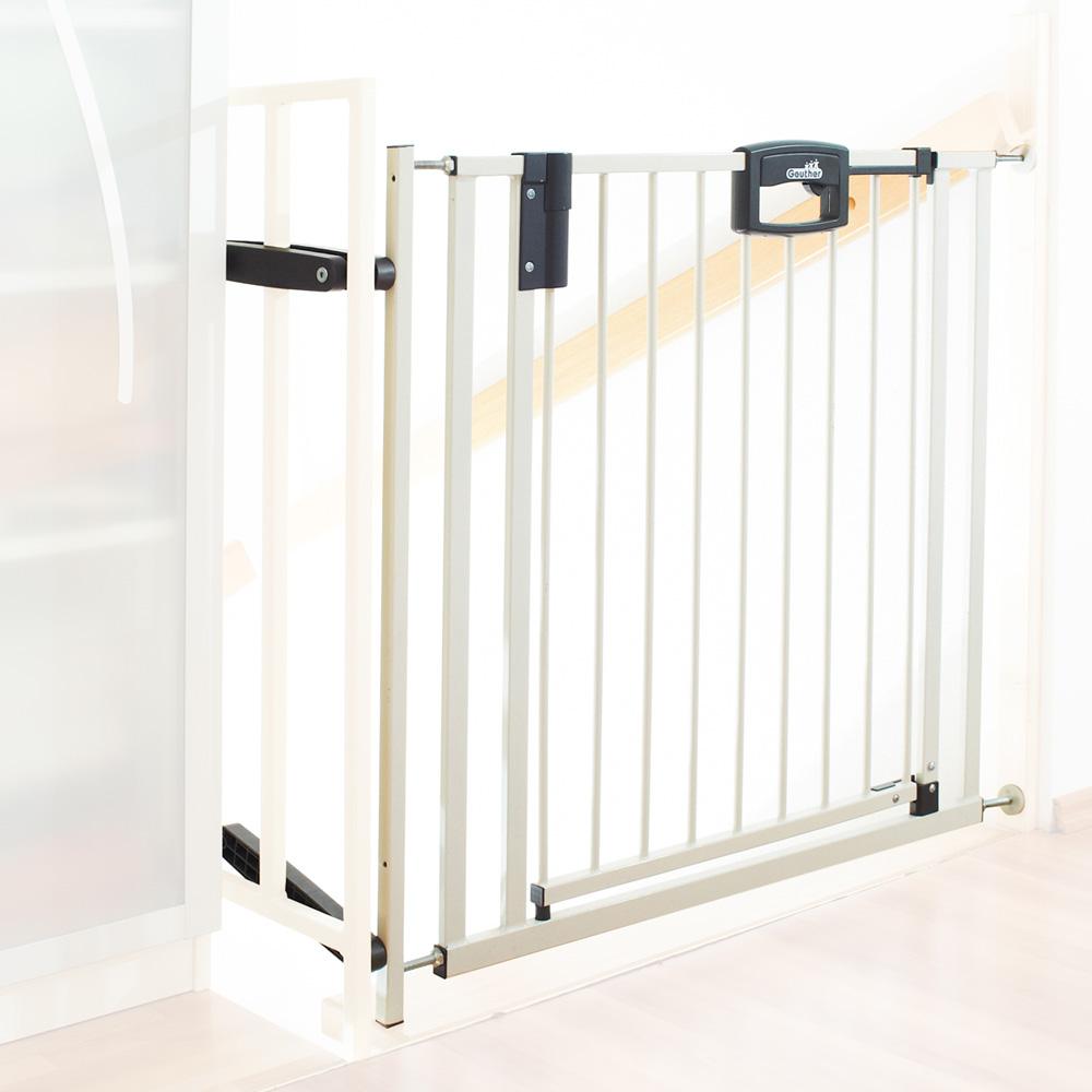 barri re de s curit easy lock metal blanc sans percer. Black Bedroom Furniture Sets. Home Design Ideas