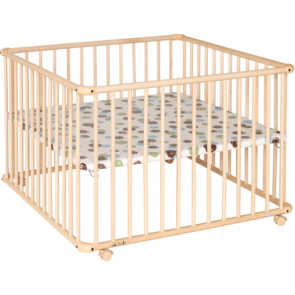 parc b b belami 102x102cm naturel pois de geuther. Black Bedroom Furniture Sets. Home Design Ideas