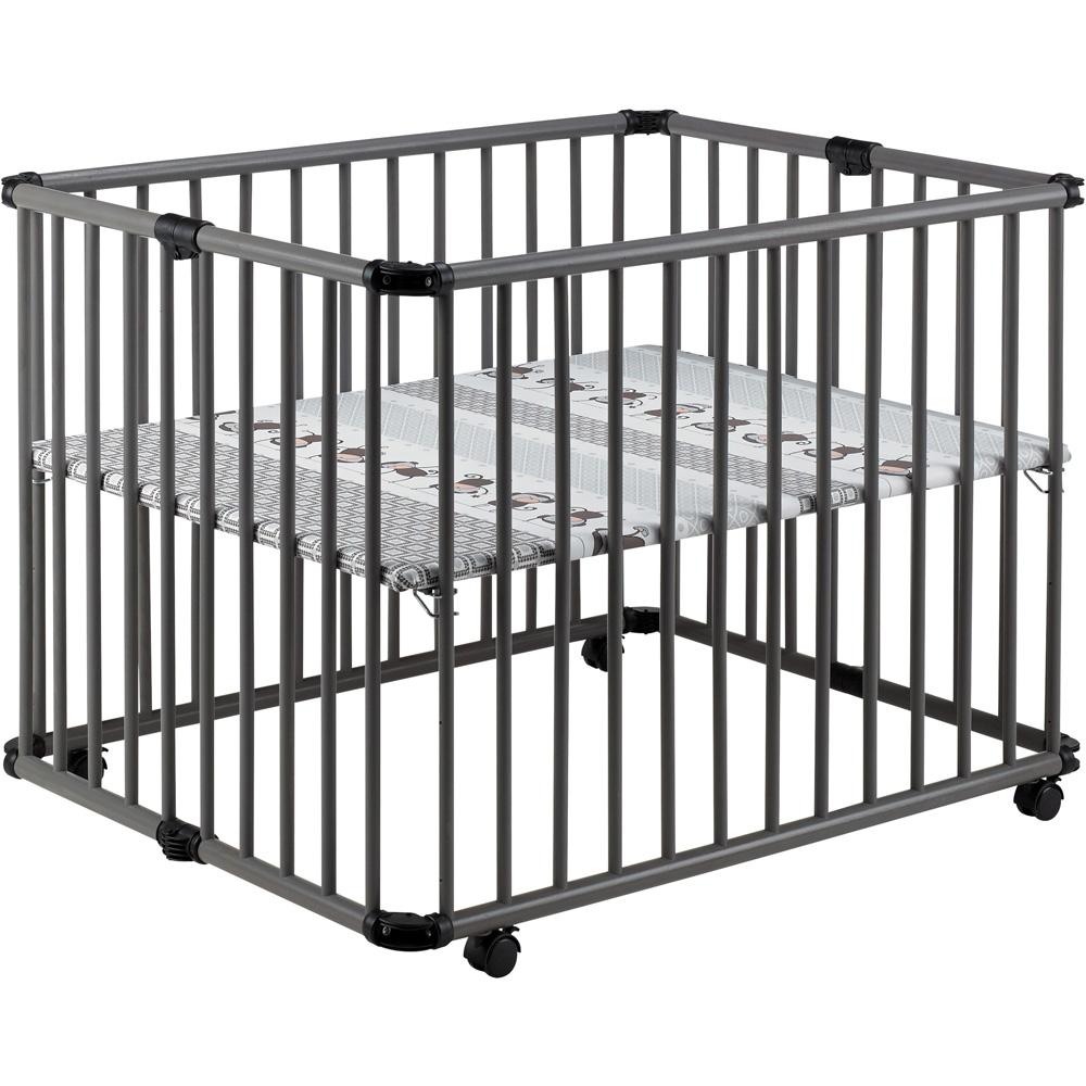 parc b b lucilee pliant gris taupe 94 x 102 cm fond singe. Black Bedroom Furniture Sets. Home Design Ideas