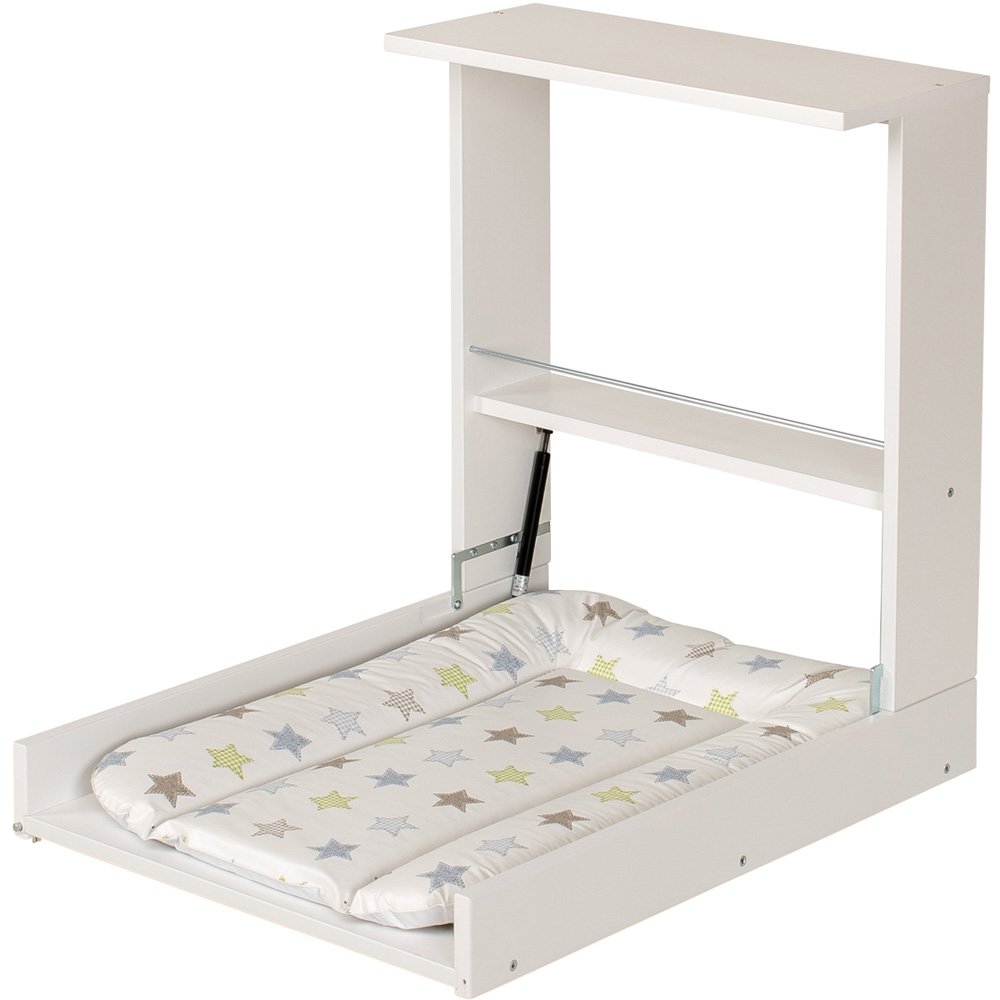 Table langer murale wicki blanc toiles 10 sur allob b - Table a langer murale autour de bebe ...