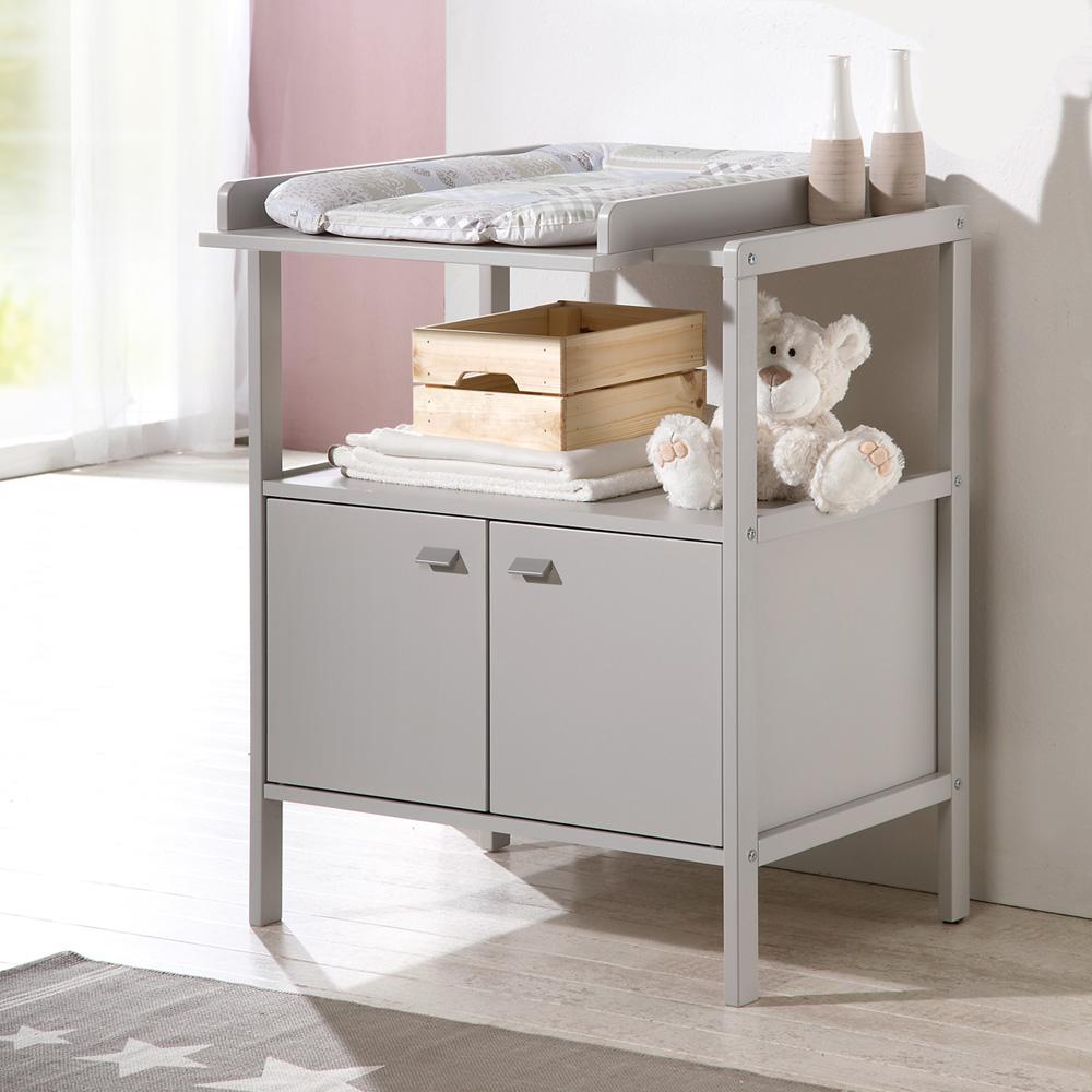 table langer selma gris clair de geuther chez naturab b. Black Bedroom Furniture Sets. Home Design Ideas