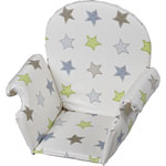 Coussin de chaise pvc avec rabat etoile pas cher