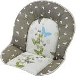 Coussin de chaise tissu papillon pas cher