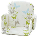 Coussin de chaise tissu avec rabat papillon pas cher