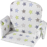 Coussin de chaise avec rabat tissu etoile