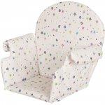 Coussin de chaise pvc avec rabats fleurs