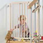 Barriére de sécurité pivotante pour escalier 70 x 111 cm naturelle pas cher