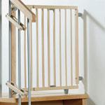 Barriére de sécurité pivotante pour escalier 99.5 x 140 cm naturelle pas cher