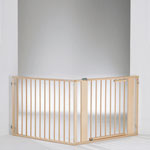 Barrière pare-feu à configurer bois 120 x 180 cm naturel/argentée pas cher