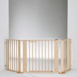 Barrière pare-feu à configurer bois 100 x 180 cm naturel/argentée pas cher