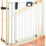 Barrière d'escaliers easylock blanc 84.5 - 92.5 cm pas cher