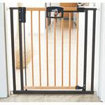 Barrière de porte easylock wood bois / argent 68-76cm pas cher