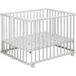 Parc bébé lucilee pliant blanc 80 x 102 cm fond etoile pas cher