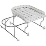 Combiné baignoire table à langer chrome varix etoile pas cher