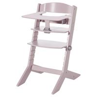 Chaise haute bébé syt avec plateau rose