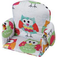 Coussin de chaise avec rabat tissu hibou