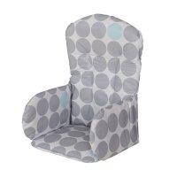 Coussin de chaise pvc pois gris