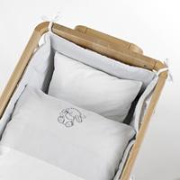 Ensemble tour et linge de lit blanc lapin pour berceau aladin
