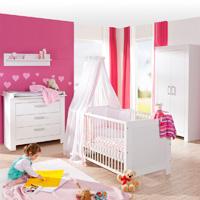 Chambre bébé trio marléne armoire 2 portes blanche