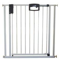 Barrière de sécurité easy lock + métal blanc sans percer 80,5-88,5 cm
