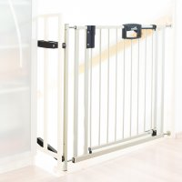 Barrière de sécurité easy lock + metal blanc sans percer 84.5 -92.5cm