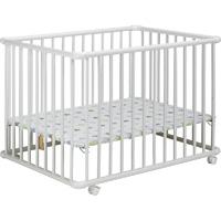 Parc bébé belami 73 x 102 cm blanc etoile