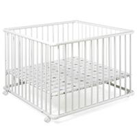 Parc bébé belami 102x102cm blanc étoile