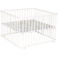Parc bébé belami 102 x 102 cm blanc fond patchwork papillon