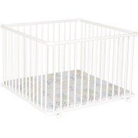 Parc bébé belami + grand modèle blanc fond patchwork papillon