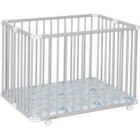 Parc bébé lucilee + pliant petit modèle gris clair fond prisme