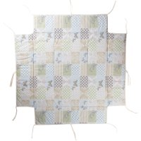 Tapis de parc avec bords carré patchwork papillon