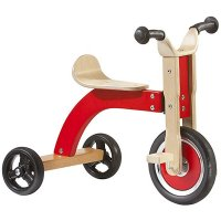 Tricycle naturel / rouge