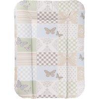 Matelas à langer 52 x 75 cm patchwork papillon