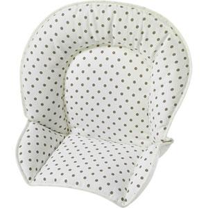 Coussin de chaise tissu pois marron