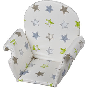 Coussin de chaise pvc avec rabat etoile