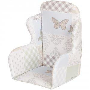 Coussin de chaise pvc patchwork papillon