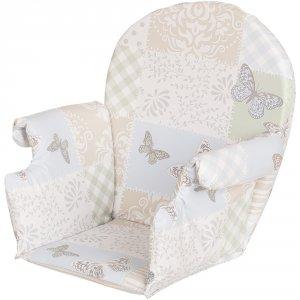 Coussin de chaise pvc avec rabats patchwork papillon